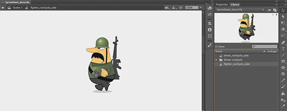 Export SpriteSheets from Flash to Edge Animate