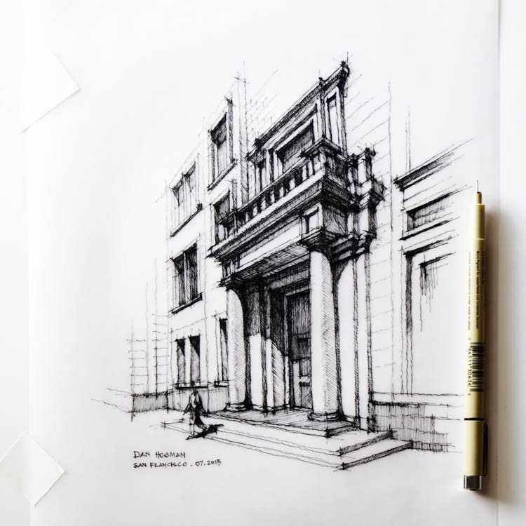 Line Drawing Architecture : For dan hogman blurred lines separate his love of