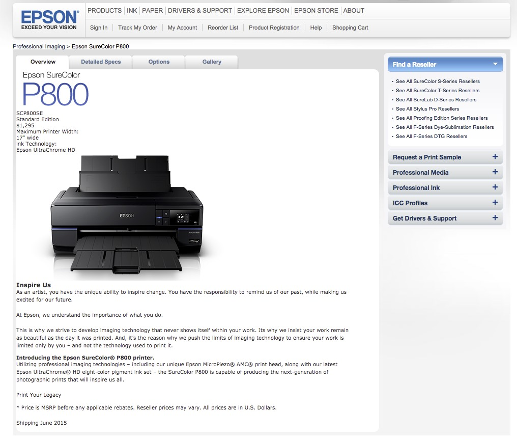 New Epson Printer is Announced - Layers Magazine