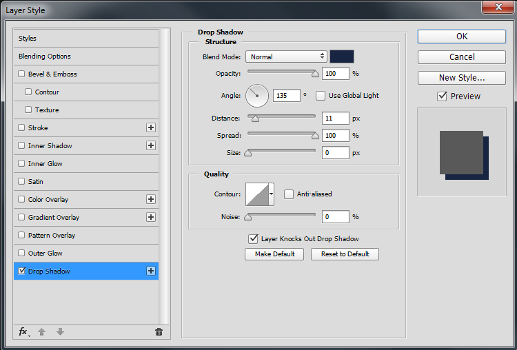 Add Drop Shadow to Layer Group