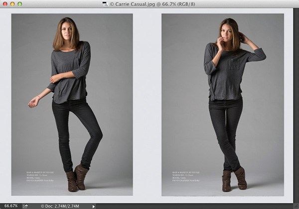 Fashion Toning Using Photoshop's Color Lookup Adjustment Layer