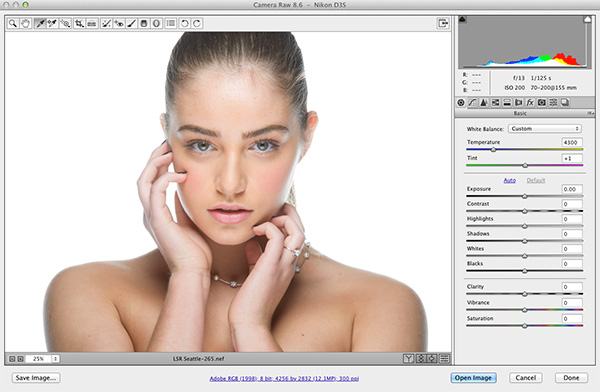 Retouching Portraits in Camera Raw
