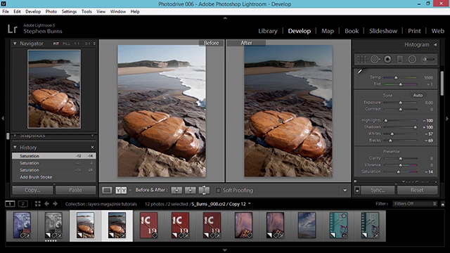 Edit a Color Photo with Black-and-White Values in Lightroom