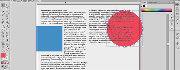 Text Wraps in Adobe Illustrator