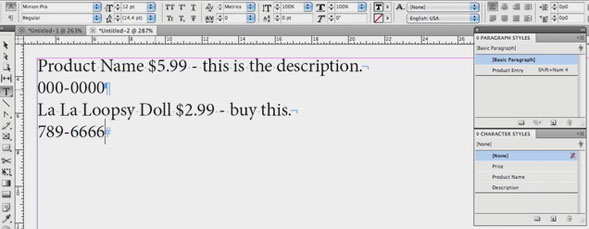 Working with Nested Styles in InDesign