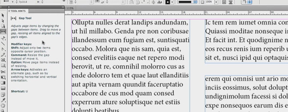 Tool Hints in InDesign CS5