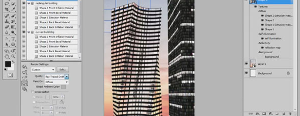3D Skyscraper Composition in Photoshop CS5 Extended