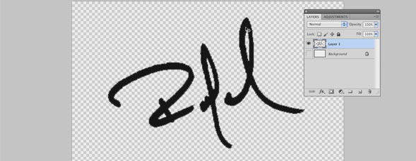 Scaling a Raster Signature Using a Workpath in Photoshop
