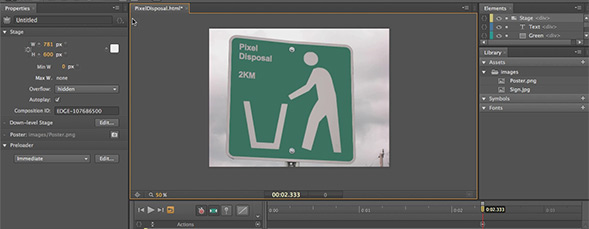 Edge Animations into Dreamweaver CS6