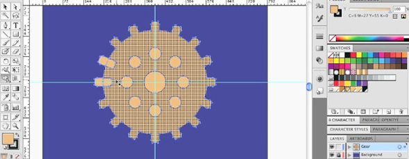 3D Gears with the Shape Builder Tool in Illustrator