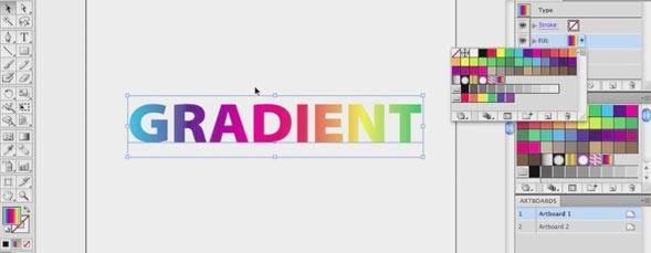 Applying a Gradient to Editable Type in Illustrator