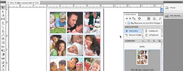 Using Mini Bridge with InDesign CS5