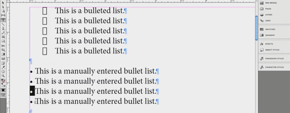 Bullets and Numbering in InDesign