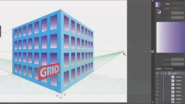 Perspective Grid Enhancements in Illustrator CC