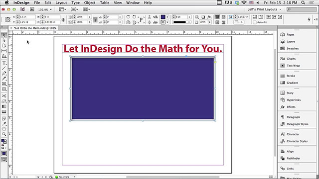 Let Adobe InDesign Do The Math For You