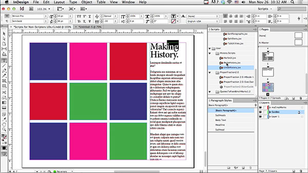 Scripting for Non-Scripters in Adobe InDesign