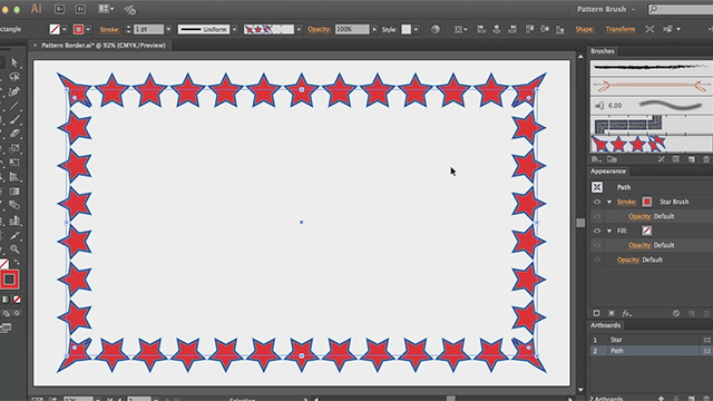 Inside Pattern Brush Borders in Adobe Illustrator CC