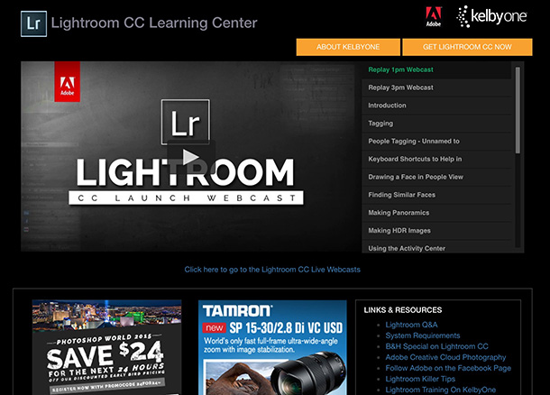 Check out the Lightroom CC Launch