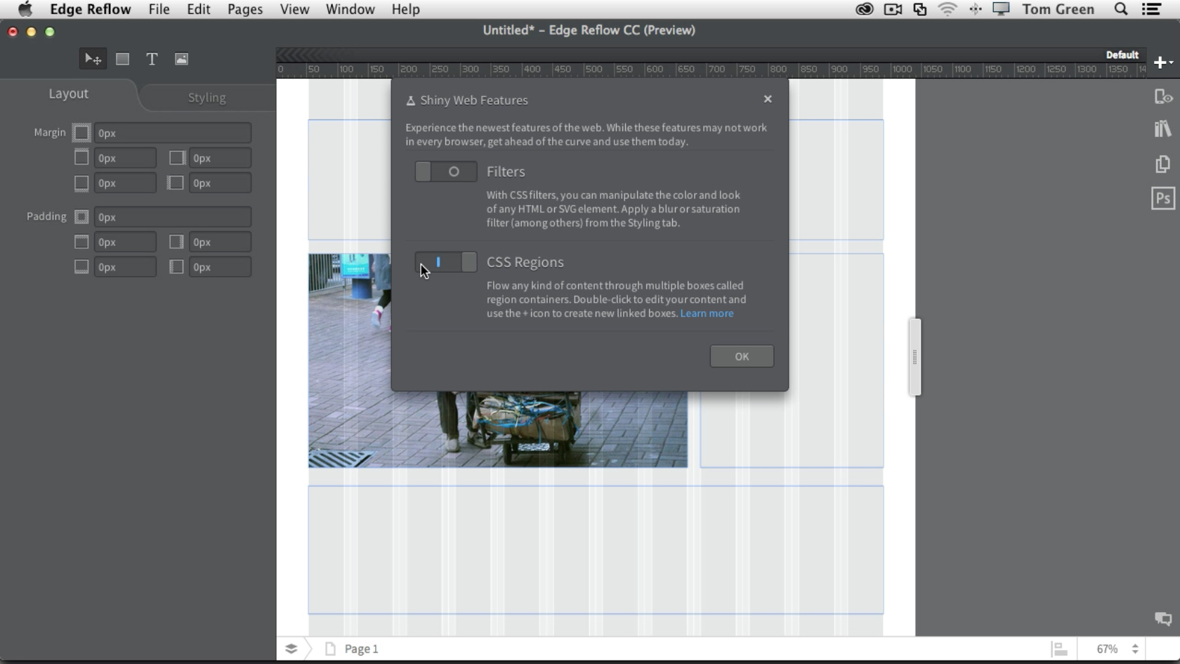 Adobe Edge Reflow CC: The CSS Regions Tool of Edge Reflow