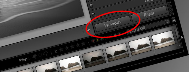 Lightroom Video: The Previous Button and What It Does