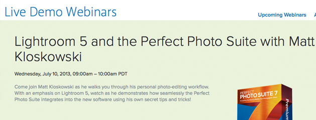 Join Me For A Lightroom 5 / onOne Perfect Photo Suite Webcast Today