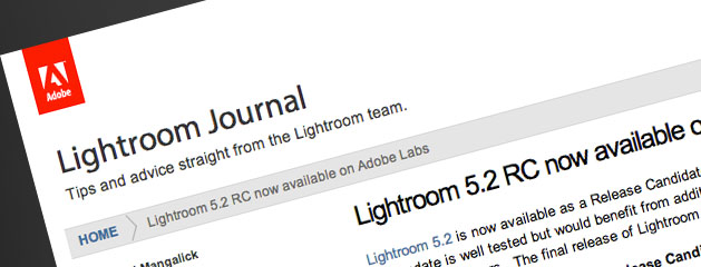 Lightroom 5.2 Release Candidate Is Out