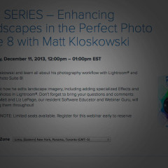 Enhancing Landscape Photos Webcast with Lightroom and onOne Software