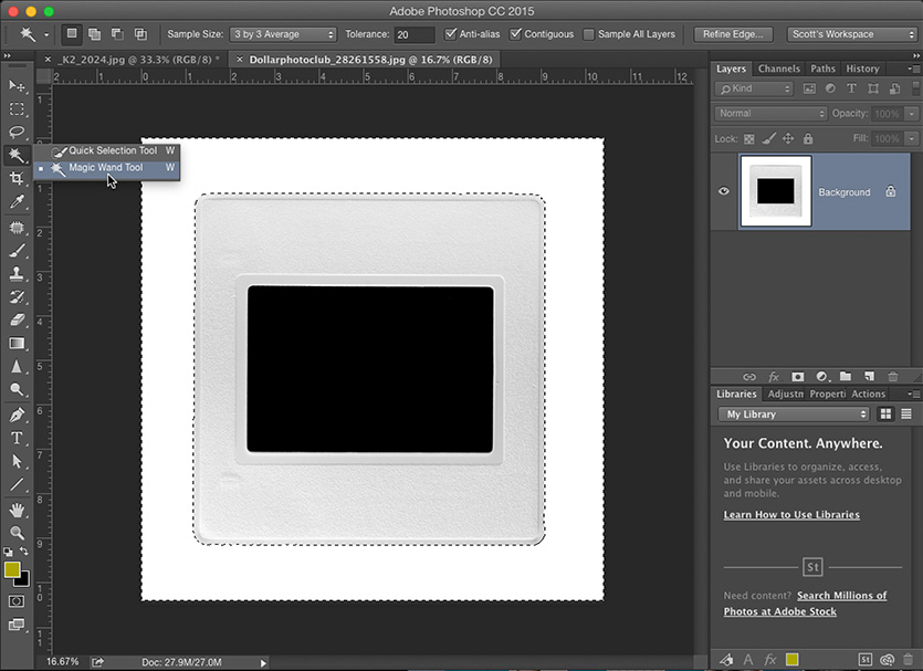 Creating Contact Sheets With a 'Slide Mount Look' in Lightroom