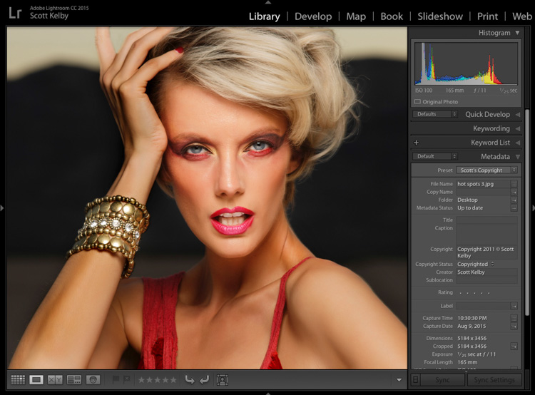 Portrait Retouching in Lightroom: How To Remove 'Hot Spots'