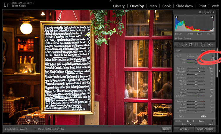 The Hidden Amount Control For The Adjustment Brush Lightroom