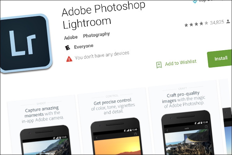 New 'Lightroom for Mobile' Update for Android Supports RAW Image