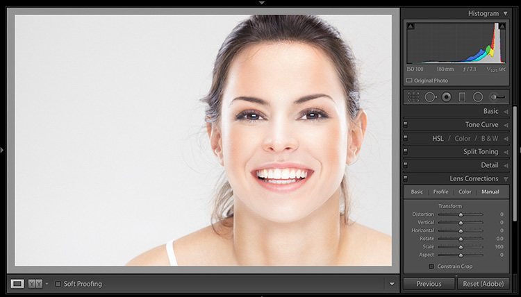 Quick Retouching Trick For Slimming Portraits in Lightroom