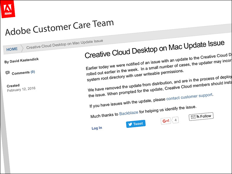 Lightroom CC Update Advisory for Mac Users (and a quick tip