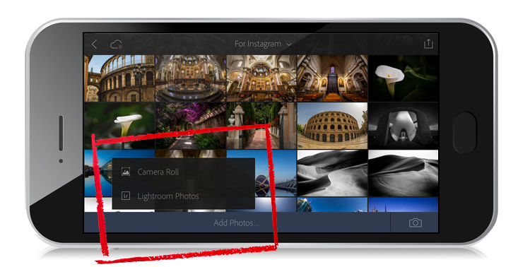 Lightroom Mobile: How to Import Directly Into a Collection