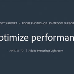 Want Your Lightroom To Run Faster?