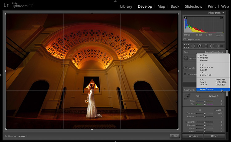 How To Create Cropping Presets in Lightroom