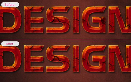 Glowing Rusty Text Effect | Planet Photoshop