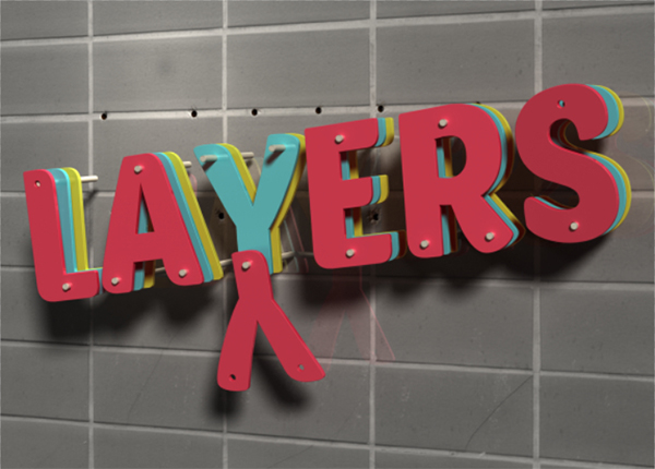 3D Layers Text Effect in Photoshop CS6   Planet Photoshop