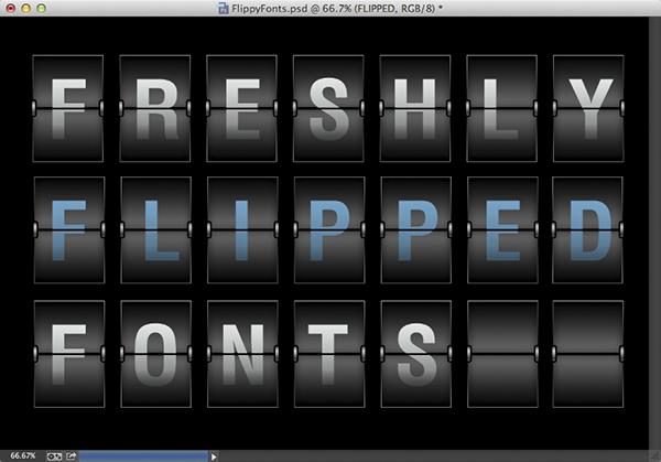 Flip Fonts Effect