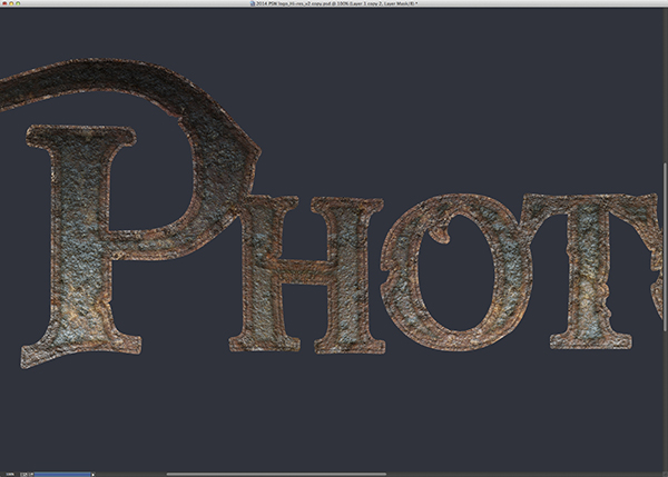 Rusty Type Effect
