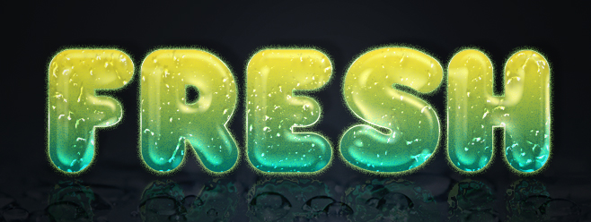 Fresh Glossy Text Effect_feature
