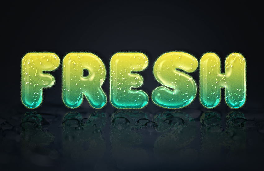 Fresh Glossy Text Effect
