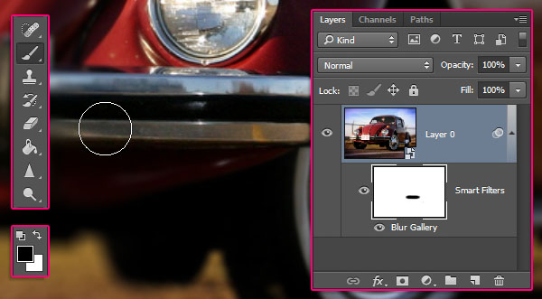 Using Field Blur in Photoshop