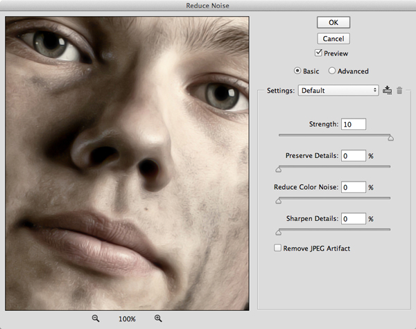 Sleek Chiseled Portrait Effect