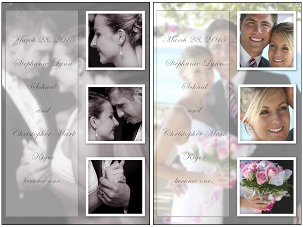 Designing Wedding Templates