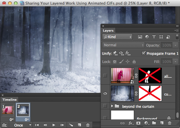 Sharing Your Layered Work Using Animated GIFs