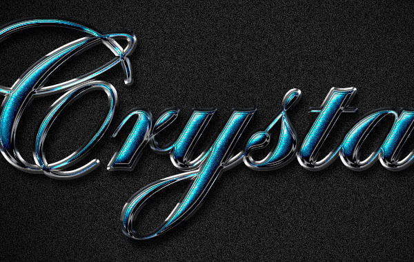 Crystal Text Effect