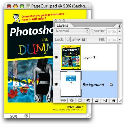 Mudah Curl halaman di Photoshop CS2