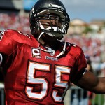 My favorite NFL player, Derrick Brooks, coming onto the field