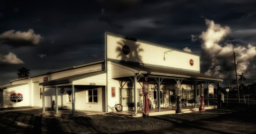 """Punta Gorda Gas Station"" by Bill Conway (Punta Gorda, Florida)"